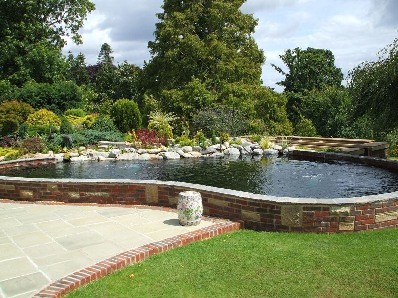 Aquajoy water gardens ltd pond cleaning company in for Water garden construction