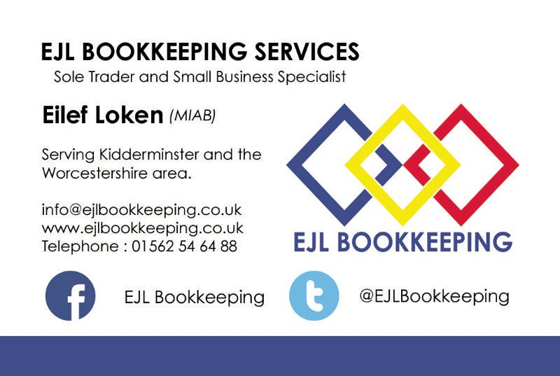 Ejl bookkeeping services bookkeeper in kidderminster uk ejl bookkeeping offers bookkeeping services reheart Images