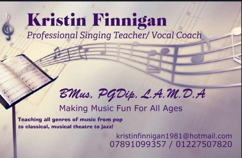 Kristin Finnigan Singing Teacher