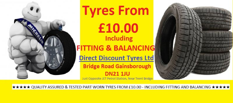 Direct Discount Tyres Ltd, Gainsborough | Tyre Fitting