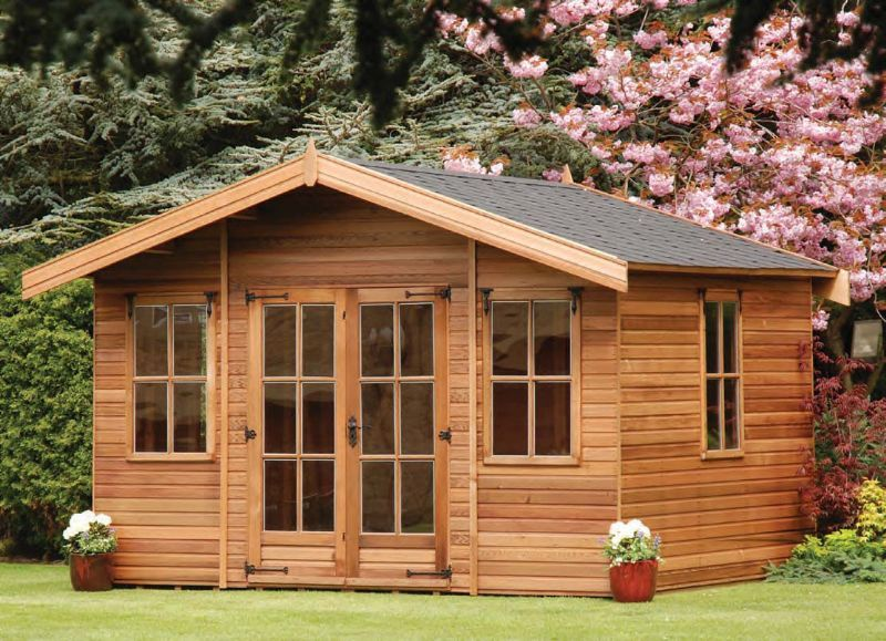 Elite garden buildings and spas ltd garden shed supplier for Cedar garden office