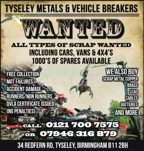 Whitey S Metal Recycling Home: Tyseley Metals & Vehicle Recycling, Birmingham