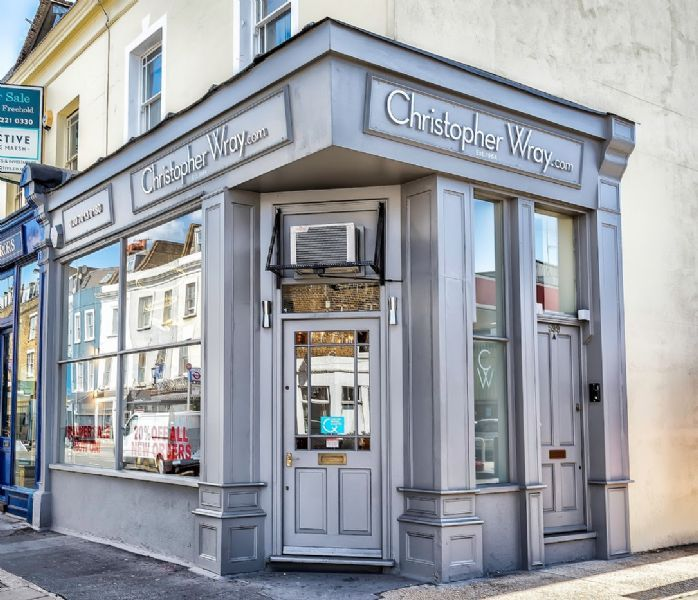 christopher wray lighting shop in fulham london uk