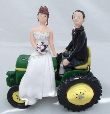 Farmer Wedding Cake Toppers Uk