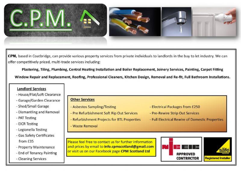 CPM Scotland Ltd, Coatbridge | Property Refurbishment